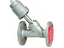 Flange Angle Seat Valve SS Single Port Actuator